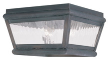 Livex Lighting 2611-61 - 2 Light Charcoal Outdoor Ceiling Mount