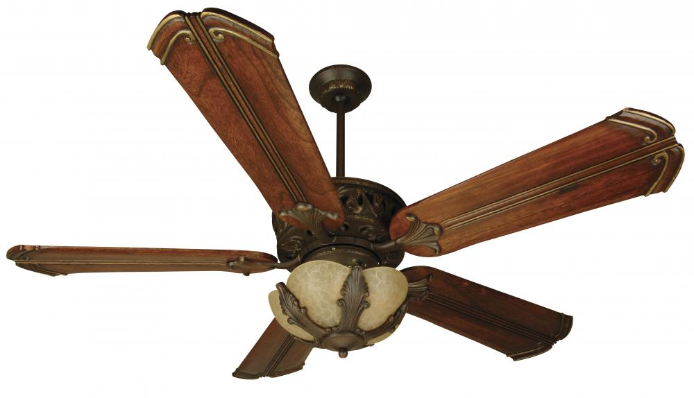Ceiling Fans With Stained Glass: Two Light Ag - Aged Bronze Tea-stained Glass Ceiling Fan,Lighting