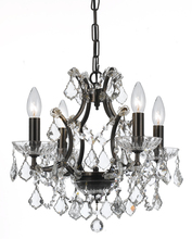 Crystorama 4454-VZ-CL-MWP - Crystorama Filmore 4 Light Crystal Bronze Mini-Chandelier