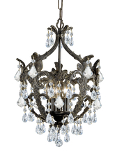 Crystorama 5195-EB-CL-SAQ - Crystorama Legacy 5 Light Clear Spectra Crystal Bronze Mini Chandelier