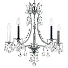 Crystorama 5935-CH-CL-MWP - Crystorama Cedar 5 Light Polished Chrome Mini Chandelier