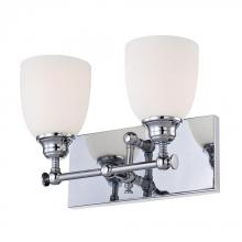 Alico BV2052-10-15 - Essex 2 Light Vanity In Chrome And White Opal Glass