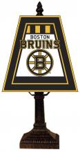 "The Lighting Shoppe at Crown Supply Items MEM NHL-462-BBR - The Memory Company - Boston Bruins 14"" Art Glass Table Lamp NHL"