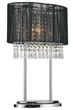 Crystal World 5004T13C(B) - 1 Light Table Lamp with Chrome finish