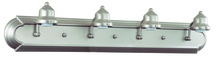 Jeremiah 11730BN4 - Racetrack 4 Light Arch Arm Vanity in Brushed Satin Nickel