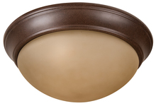 "Jeremiah XPP15AG-3A - Pro Builder Premium 3 Light 15"" Flushmount in Aged Bronze Textured"