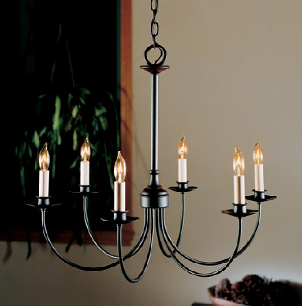 Simple Lines 6 Arm Chandelier