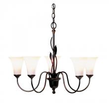 Hubbardton Forge 103052-SKT-03-GG0067 - Forged Leaves 5 Arm Chandelier