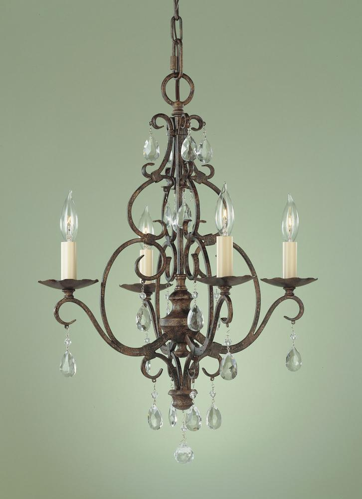 4- Light Mini Chandelier