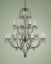 Feiss F1938/8+4MBZ - 12- Light Multi-Tier Chandelier