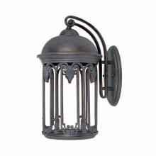 World Imports WI971319 - Dark Sky 9 in. Old Bronze Outdoor Wall Sconce