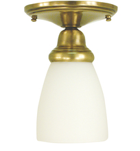 Framburg 2940 BN - 1-Light Brushed Nickel Taylor Flush / Semi-Flush Mount