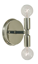 Framburg 4882 PN/MBLACK - 2-Light Polished Nickel/Matte Black Parallax Bath Sconce