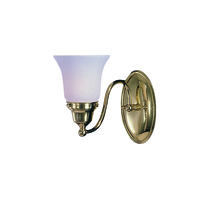 Framburg 8411 PB - 1-Light Polished Brass Magnolia Sconce